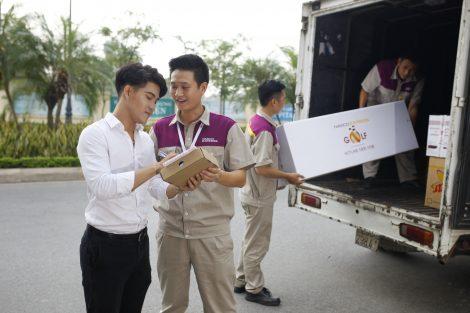 Áo bảo hộ đồng phục nhân viên Dịch Vụ Chuyển Phát Nhanh Nasco ở Hà Nội 16