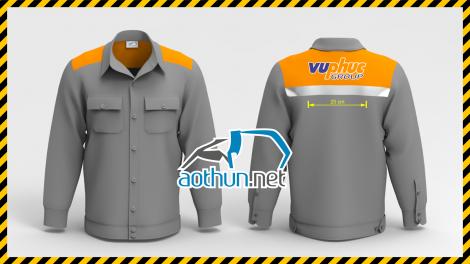 Áo đồng phục bảo hộ lao động tay dài Kỹ Sư công Ty CP Công Nghệ Vũ Phúc tại Hà Nội
