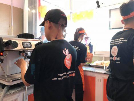 Áo thun đồng phục nhân viên thương hiệu Torki Cafe 2
