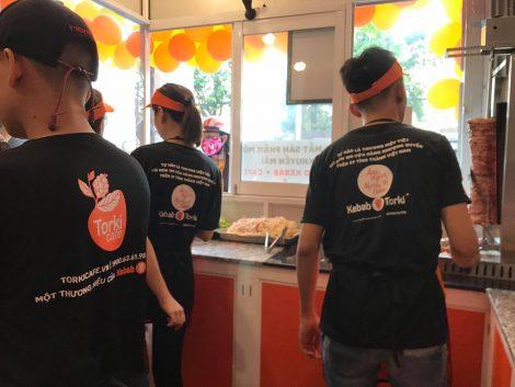 Áo thun đồng phục nhân viên thương hiệu Torki Cafe 5