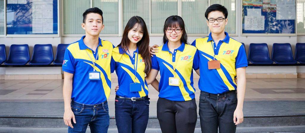 Áo thun đồng phục sinh viên Trường Cao Đẳng Tôn Đức Thắng TPHCM 1