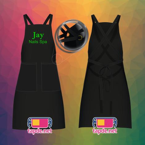 Tạp dề đeo vai dây chéo nhân viên Jay Nails Spa