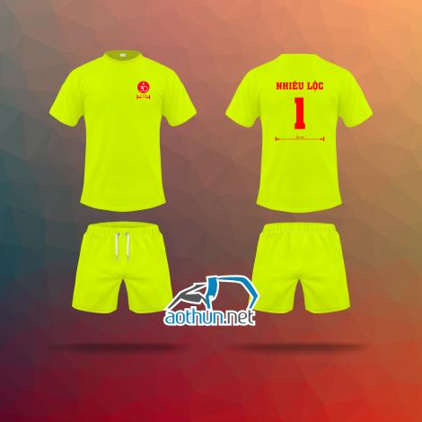 In áo thun bóng đá Nhiêu Lộc