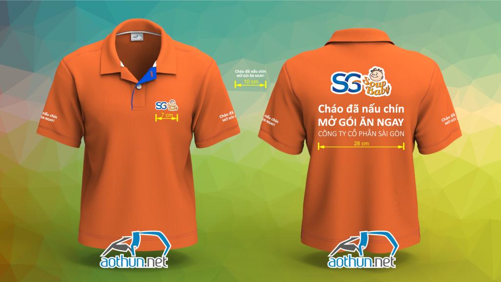 Mẫu áo thun đồng phục Công ty Sài Gòn Food SG Soup Baby ở Quận Phú Nhuận