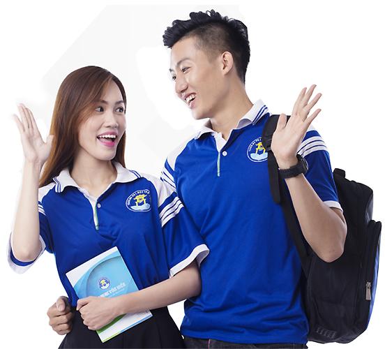 Sinh viên Trường Đại Học Văn Hiến trong bộ đồng phục