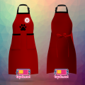 Tạp dề đồng phục 2 túi đứng nhân viên Quán Tea & Coffee 2D