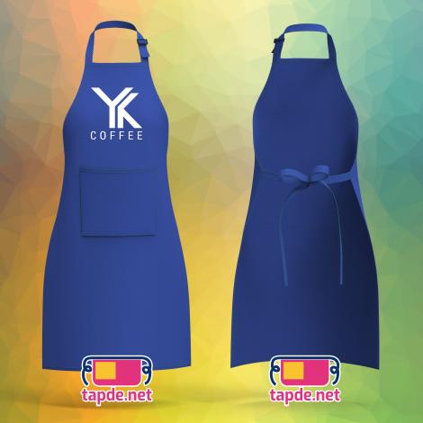 Tạp dề đồng phục quán YK Coffee ở quận 1