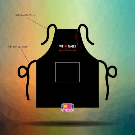 Tạp dề đồng phục We Love Nail - 2