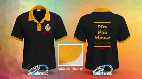 Áo thun đồng phục Mrs Phở House ở Mỹ