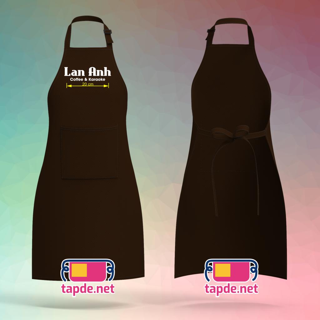 Tạp dề đồng phục coffee & karaoke Lan Anh