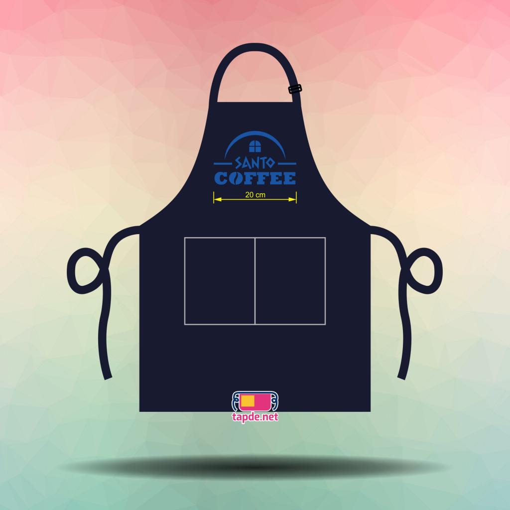 Tạp dề đồng phục quán Santo Coffee