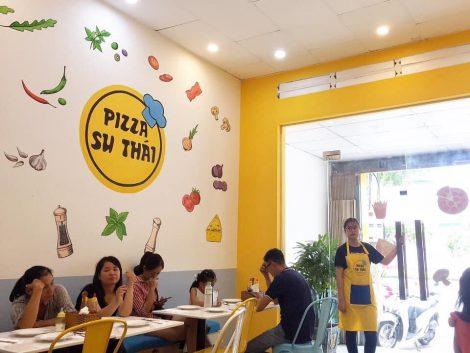 Ảnh thực tế tạp dề đồng phục Pizza Su Thái ở Vũng Tàu
