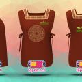 Tạp dề đồng phục 2 thân màu nâu Sen Việt
