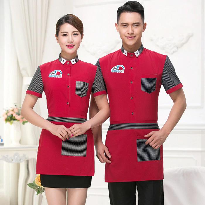 May đồng phục nhà hàng chất lượng